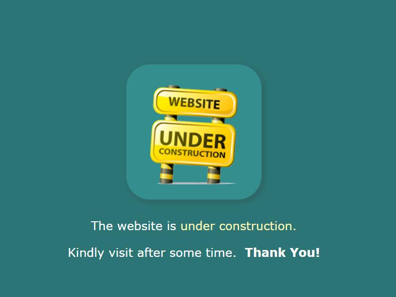 website under construction template